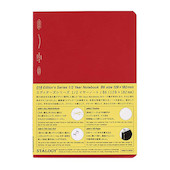 Stalogy 1/2 Year Notebook B6 Red