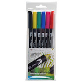 Tombow ABT Dual Brush Pen Set of 6