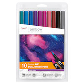 Tombow ABT Dual Brush Pen Galaxy Colours Set of 10