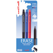 Uni-ball On Point Rollerball Pen Erasable Ink Retractable 3 Pack