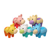 Iwako Puzzle Eraser Colorz Set Cow