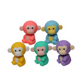 Iwako Puzzle Eraser Colorz Set Monkey