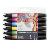 Winsor & Newton Water Colour Markers Set of 6 Floral