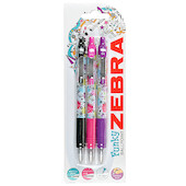 Zebra Z-Grip Floral Ballpoint Pen Set of 3