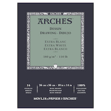 Arches Drawing Pad Extra White 10x14