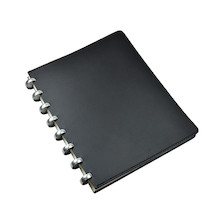 Atoma Pur Disc-Bound Refillable A5+ Notebook Black Leather