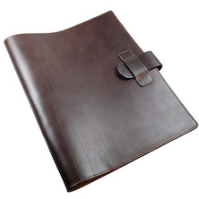Atoma Pur Leather Folder A4 Brown