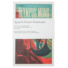 Back Pocket SpaceX Notebooks Set of 3