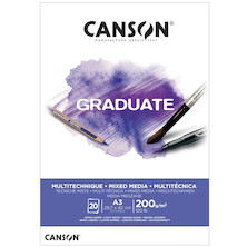 Canson Graduate White Mixed Media Pad A3