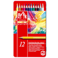 Caran d'Ache Supracolor Water Soluble Pencils Assorted Tin of 12