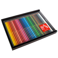Caran d'Ache Swisscolor Water Soluble Pencils Wooden Box of 30
