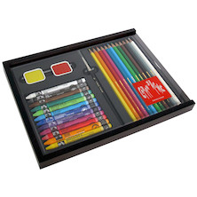Caran d'Ache Neocolor II and Swisscolor Wooden Box of 12 + 12