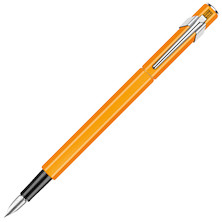Caran d'Ache 849 Metal Fountain Pen Fluorescent Orange
