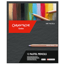 Caran d'Ache Pastel Pencil Assorted Box of 12