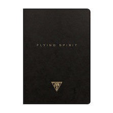 Clairefontaine Flying Spirit Notebook Black Cover A5