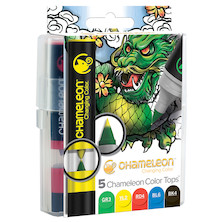 Chameleon Color Tops Set of 5 Assorted Primary