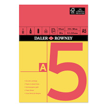 Daler-Rowney Red & Yellow Pad A5