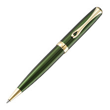 Diplomat Excellence A2 Green Ballpoint Pen Gold Trim