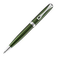Diplomat Excellence A2 Green Ballpoint Pen Chrome Trim