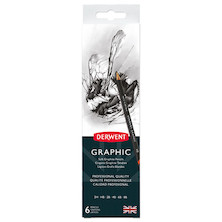 Derwent Graphic Graphite Pencil Tin of 6
