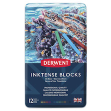 Derwent Inktense Colour Block Tin of 12