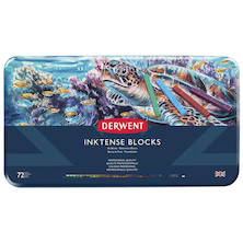 Derwent Inktense Colour Block Tin of 72