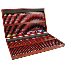 Derwent Pastel Pencil Wooden Box of 72