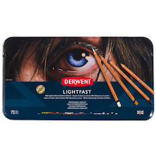 Derwent Lightfast Coloured Pencils Extension Tin (36 pencils with 36 additional spaces)