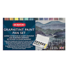 Derwent Graphitint Paint Pan Travel Set