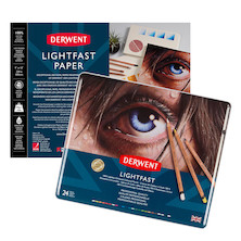 Derwent Lightfast Paper 9 x 12 and Tin of 24 Bundle