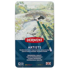 Derwent Artists Coloured Pencils Tin of 12