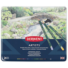 Derwent Artists Coloured Pencils Tin of 24
