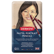 Derwent Pastel Pencil Tin of 12 Skintones