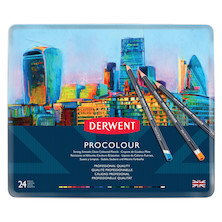 Derwent Procolour Pencil Tin of 24