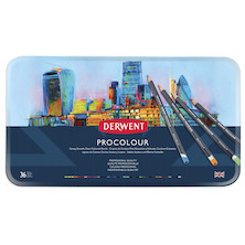 Derwent Procolour Pencil Tin of 36