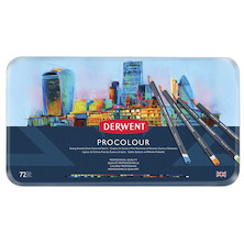 Derwent Procolour Pencil Tin of 72