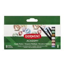 Derwent Academy Metallic Markers Set of 8 Assorted
