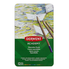 Derwent Academy Watercolour Pencils Set of 12 Assorted
