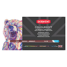 Derwent Coloursoft Coloured Pencil Sample Card