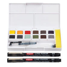 Derwent Line and Wash Paint Pan Set