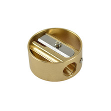 DUX 'Ring' Round Brass Pencil Sharpener