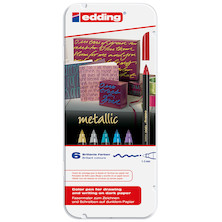 edding 1200 Colourpen Metallic Set of 6
