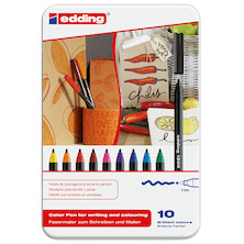 edding 1300 Colourpen Assorted Tin of 10