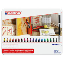edding 1300 Colourpen Assorted Tin of 20