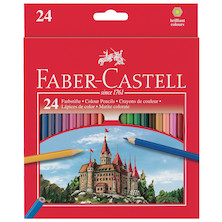 Faber-Castell Classic Colour Pencils Set of 24