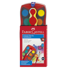 Faber-Castell Connector Watercolour Paint Box of 12