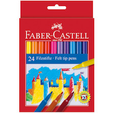 Faber-Castell Fibre-Tip Colouring Pens Set of 24