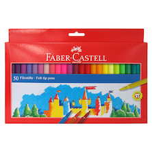 Faber-Castell Fibre-Tip Colouring Pen Set of 50