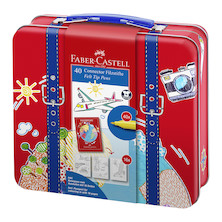 Faber-Castell Connector Pen Travel Suitcase of 40
