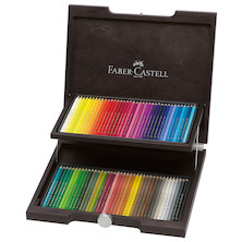Faber-Castell Polychromos Pencils Wooden Case of 72